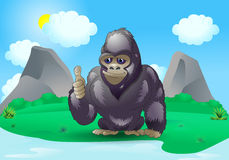 Good silverback gorilla Stock Images