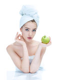Good skin after bathing Stock Photo