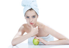 Good skin after bathing Stock Image