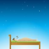 Good Sleep. Adult male having a deep sleep at night Stock Image