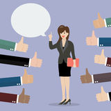 Good speech from business woman Royalty Free Stock Photography
