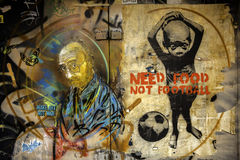Good street art in rome Stock Image