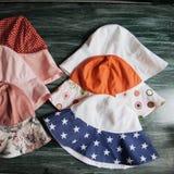 Good summer sun protection of natural fabrics Stock Images