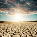 Good sunset over desert Royalty Free Stock Photos
