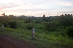 Good sunset over rural road in Thailand. Good sunset over rural road Stock Photography