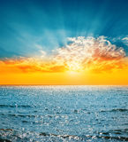 Good sunset and sea Royalty Free Stock Photography