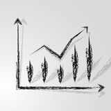 Good  target. Prospects graph and business chart Royalty Free Stock Images