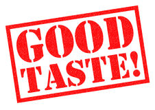 GOOD TASTE!. Red Rubber Stamp over a white background Royalty Free Stock Photo