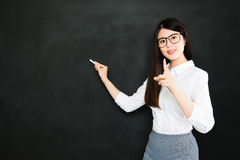 Good teaching is one-fourth preparation and three-fourths pure t Stock Image