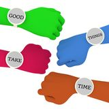 Good things take time Royalty Free Stock Images