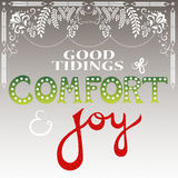 Good tidings of comfort and joy stock photos