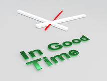 In Good Time concept Royalty Free Stock Image