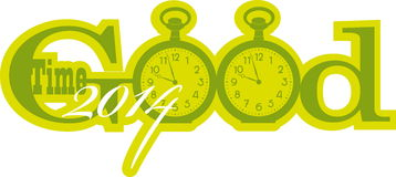 Good time. Vector illustration of the concept of good time Royalty Free Stock Photography