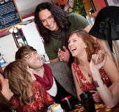 Good times. Six friends having a good time at a cafe Stock Photography
