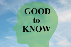 Good to Know - personality concept Royalty Free Stock Photography