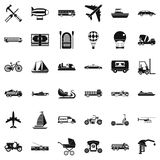 Good transport icons set, simple style Stock Image