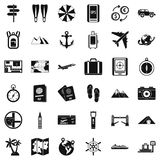 Good travel icons set, simple style Royalty Free Stock Images