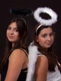 Good twin Bad Twin Stock Photo