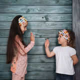 Good two girls posing for the camera Royalty Free Stock Photography