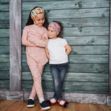 Good two girls posing for the camera Royalty Free Stock Images