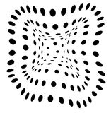 Good Vibe. 3D composition with black dots stock illustration