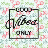 Good vibes only background Stock Image