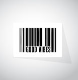 Good vibes barcode sign concept Royalty Free Stock Photos
