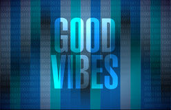 good vibes binary sign concept Stock Photo