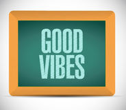 Good vibes board sign concept illustration Stock Photography
