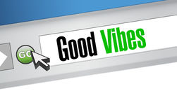 Good vibes browser sign concept Royalty Free Stock Image