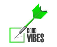 Good vibes check dart sign concept Royalty Free Stock Photos