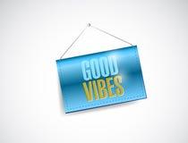 Good vibes hanging banner illustration design Stock Image