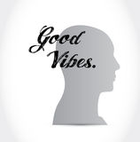 good vibes head sign concept illustration Royalty Free Stock Photography
