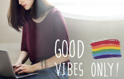 Good Vibes Only Inspirational Life Motivate Concept Royalty Free Stock Images