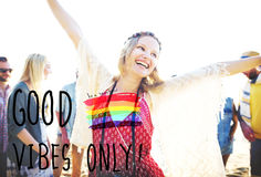 Good Vibes Only Inspirational Life Motivate Concept Stock Photos