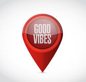 good vibes pointer sign concept Royalty Free Stock Images