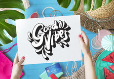 Good Vibes Positive Motivation Inspiration Concept. Good Vibes Positive Motivation Inspiration Decorative Royalty Free Stock Photos