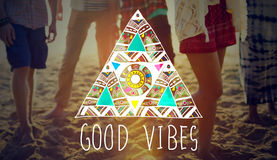 Good Vibes Positive Thinking Optimistic Concept Royalty Free Stock Photo