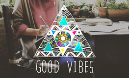 Good Vibes Positive Thinking Optimistic Concept Stock Photos
