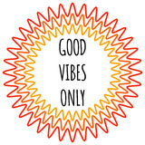 Good vibes only Poster. Stock Photos