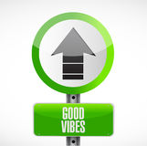 Good vibes road sign concept Royalty Free Stock Image