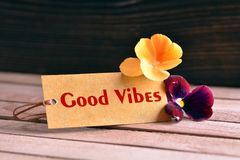 Free Good Vibes Tag Royalty Free Stock Images - 115049469