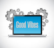 good vibes tech computer sign concept Stock Photos