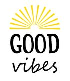 Good vibes text design illustration Stock Images