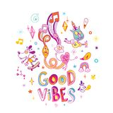 Good vibes - vector illustration Stock Photos