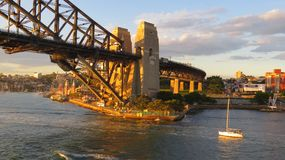 Late afternoon behind Sydney Harbour Bridge stock photos