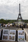 A good view to Eiffel Tower in Paris Stock Photography