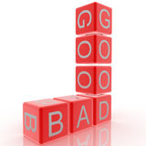 Good vs Bad. Crossword good and bad, good vs. bad Royalty Free Stock Images
