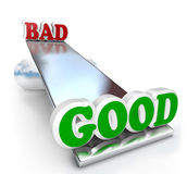 Good vs Bad Comparison on Balance Weighing Differences Royalty Free Stock Images