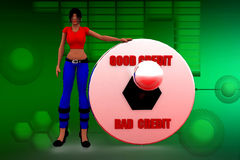 Good Vs Bad Credit score rating illustration Stock Photo